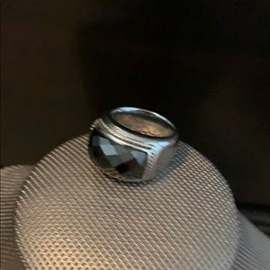 Jewelry - Silver Ring with black stone